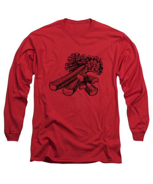 Rhubarb Stalks Long Sleeve T-Shirt