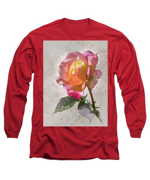 Rosa, 'glowing Peace' Long Sleeve T-Shirt