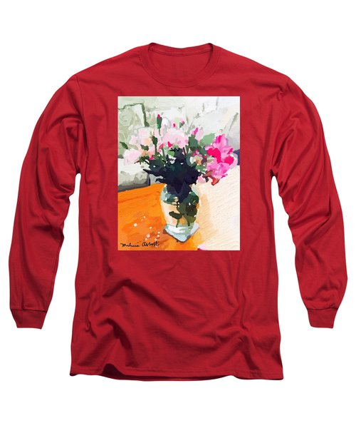 Roses In The Living Room Long Sleeve T-Shirt by Melissa Abbott