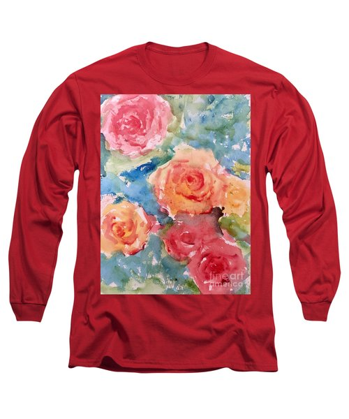 Roses Long Sleeve T-Shirt by Trilby Cole