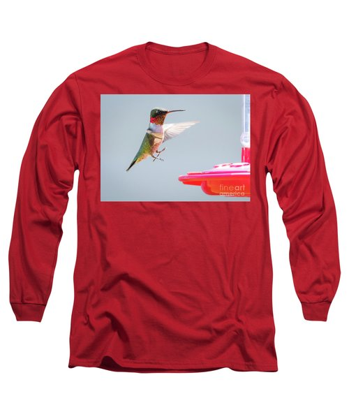 Long Sleeve T-Shirt featuring the photograph Ruby-throated Hummingbird  by Ricky L Jones