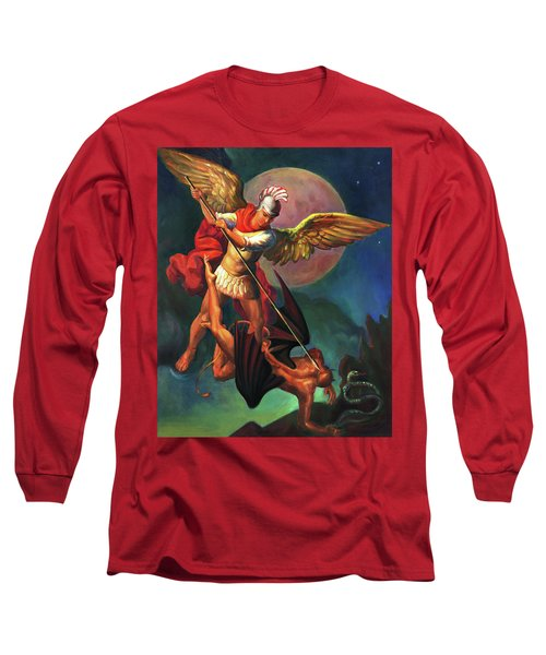 Saint Michael The Warrior Archangel Long Sleeve T-Shirt