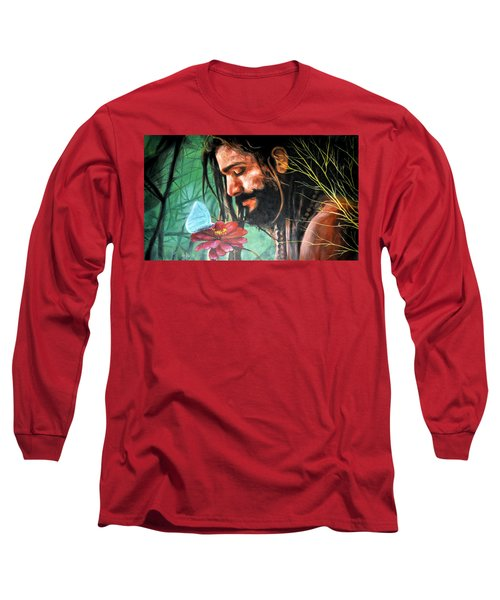 Long Sleeve T-Shirt featuring the painting Searching The Meaning Of Life by Bliss Of Art
