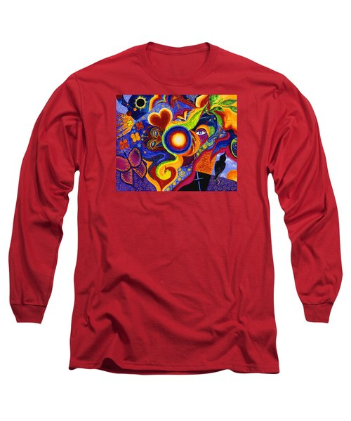 Long Sleeve T-Shirt featuring the painting Magical Eclipse by Marina Petro
