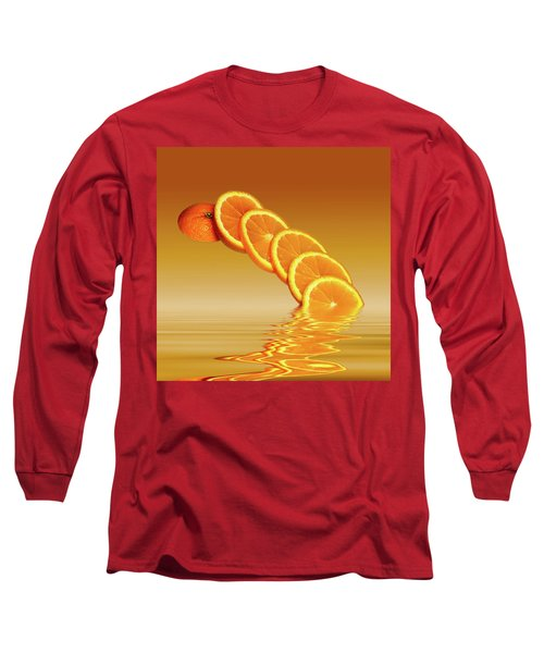 Slices Orange Citrus Fruit Long Sleeve T-Shirt by David French