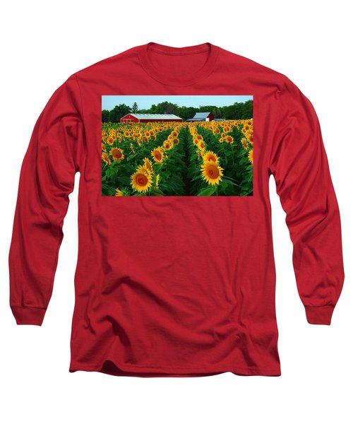 Sunflower Field #4 Long Sleeve T-Shirt by Karen McKenzie McAdoo