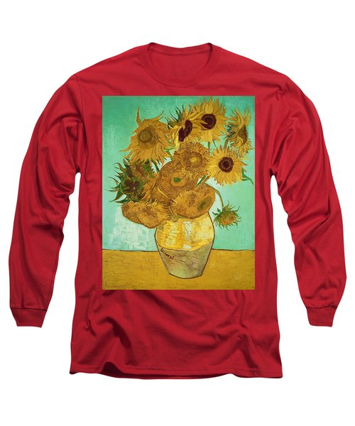 Sunflowers By Van Gogh Long Sleeve T-Shirt