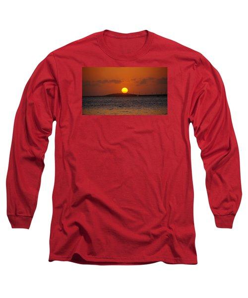 Sunset Seven Mile Bridge Long Sleeve T-Shirt