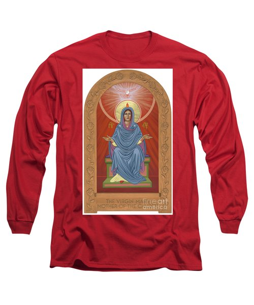 Long Sleeve T-Shirt featuring the painting The Blessed Virgin Mary Mother Of The Church by William Hart McNichols