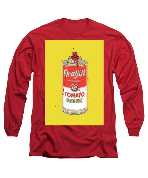Tomato Spray Can Long Sleeve T-Shirt by Gary Grayson