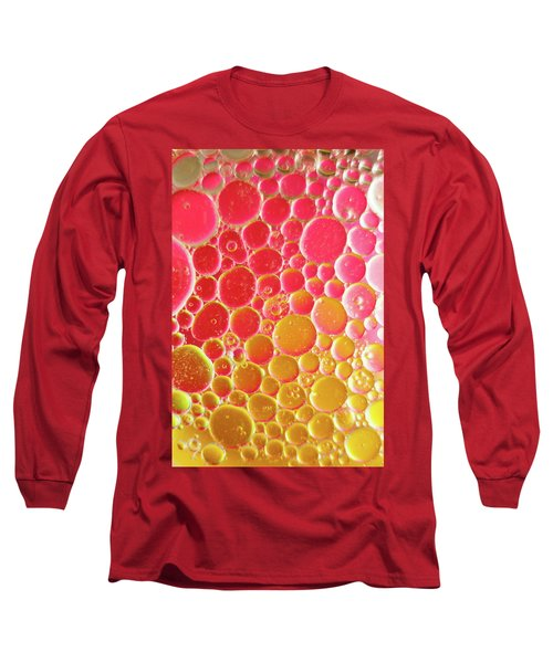 Water And Oil Bubbles Long Sleeve T-Shirt