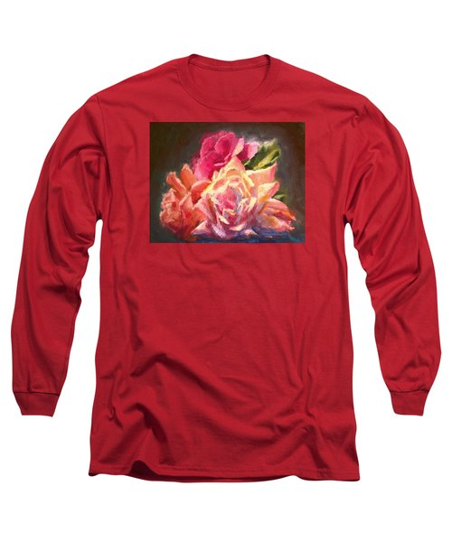 Yellow And Pink Roses Long Sleeve T-Shirt