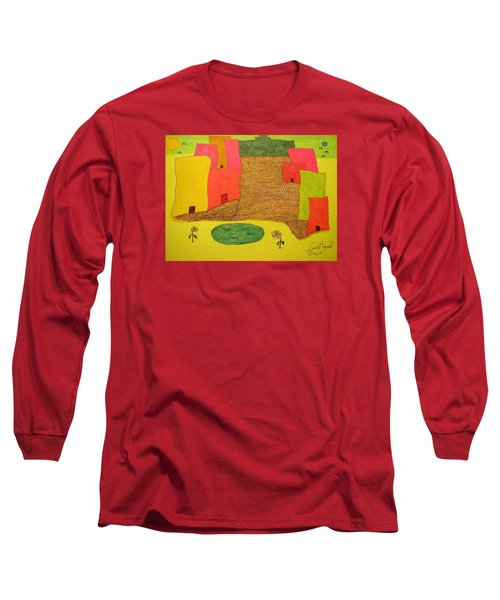 10 Flat Buildings With Fish Pool Long Sleeve T-Shirt