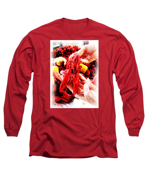 102715 Louisiana Lobster Long Sleeve T-Shirt by Garland Oldham