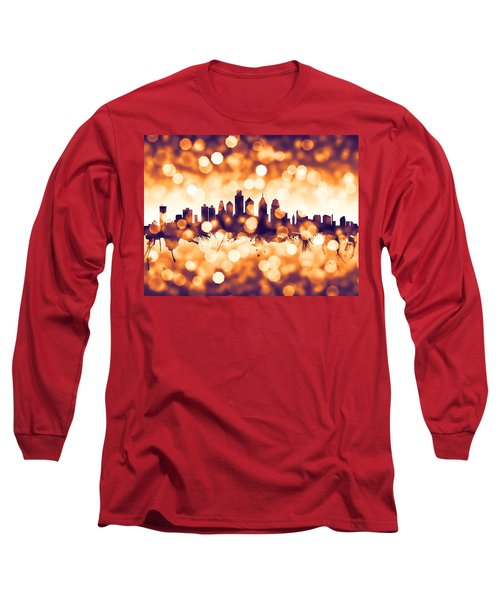 Philadelphia Pennsylvania Skyline Long Sleeve T-Shirt