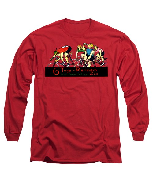 1914 Bicycle Race Poster Long Sleeve T-Shirt