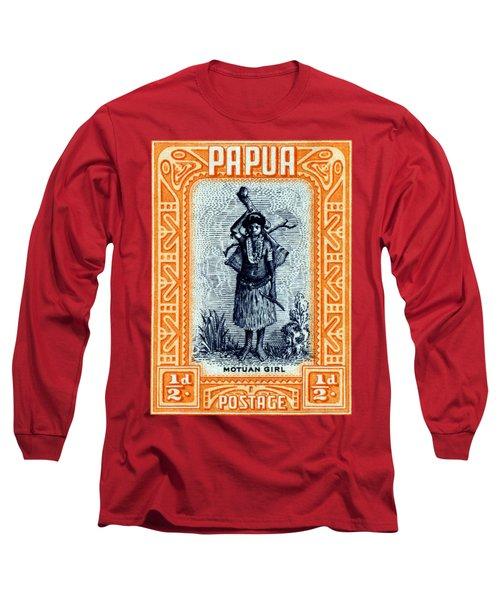 1932 Papua Motuan Stamp Long Sleeve T-Shirt