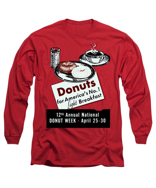 1940 Donut Poster Long Sleeve T-Shirt