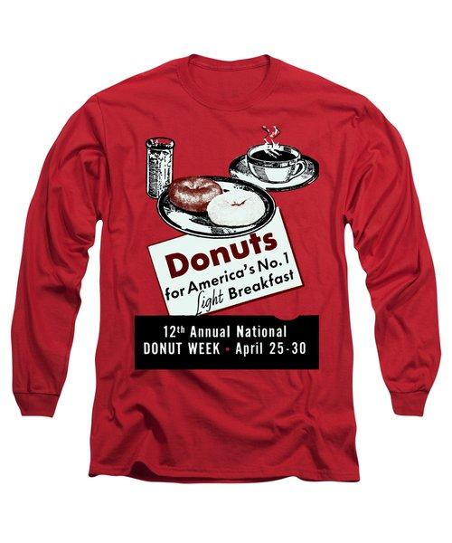 1940 Donut Poster Long Sleeve T-Shirt