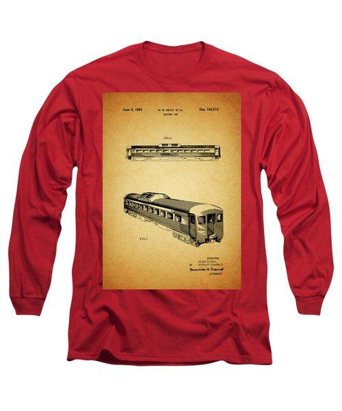 1951 Railway Car Patent Long Sleeve T-Shirt by Dan Sproul