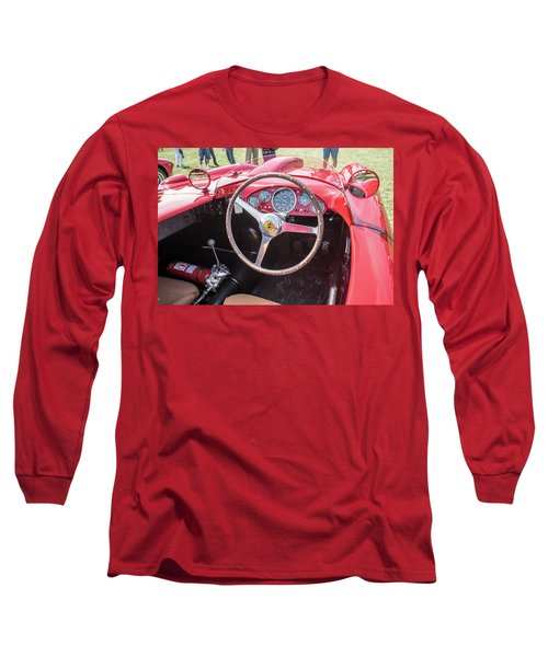 Long Sleeve T-Shirt featuring the photograph 1956 Ferrari 290mm - 4 by Randy Scherkenbach