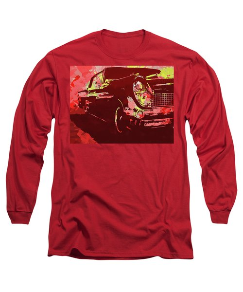 1959 Lincoln Continental Red Pop Long Sleeve T-Shirt