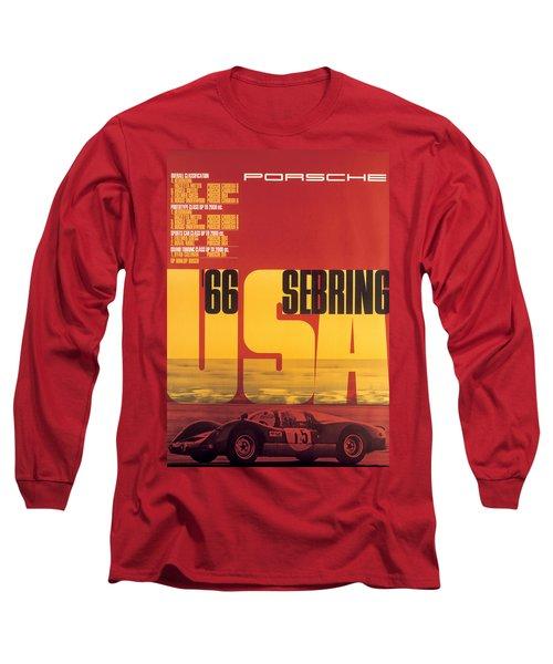 1966 Porsche 12 Hours Of Sebring Long Sleeve T-Shirt
