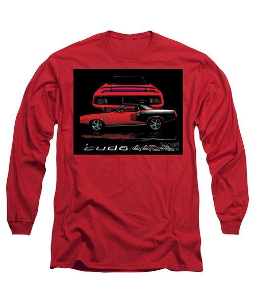 1971 Plymouth Cuda 440 Six Pack    Long Sleeve T-Shirt by Peter Piatt