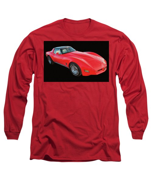 1977 Chevy Corvette T Tops Digital Oil Long Sleeve T-Shirt