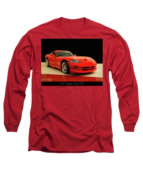 Long Sleeve T-Shirt featuring the digital art 1997 Dodge Viper Gts Red by Chris Flees
