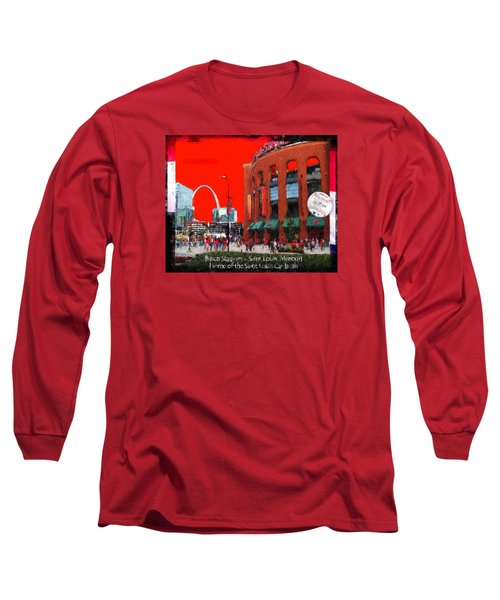 Long Sleeve T-Shirt featuring the photograph Busch Stadium - Saint Louis Missouri by John Freidenberg