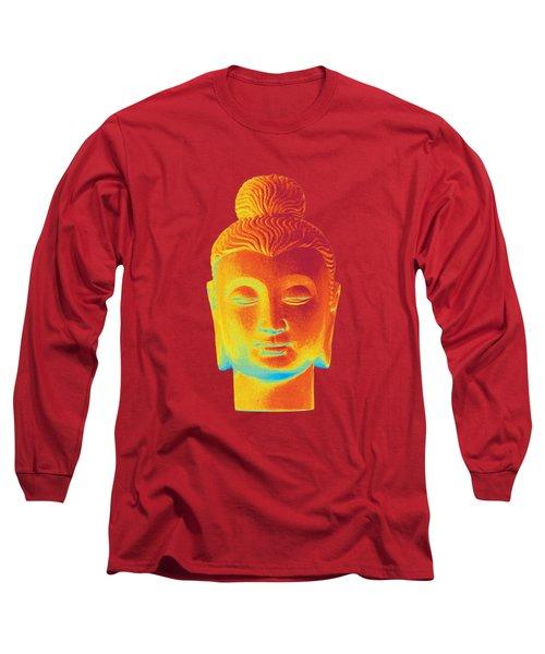 colorful Buddha - Gandhara Long Sleeve T-Shirt by Terrell Kaucher