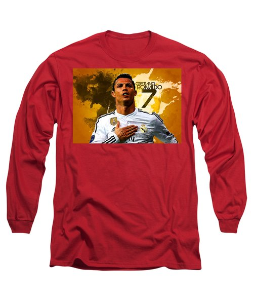 Cristiano Ronaldo Long Sleeve T-Shirt by Semih Yurdabak