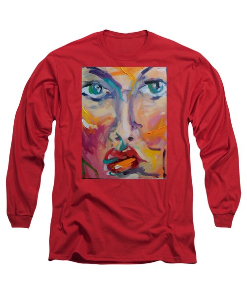 Face Long Sleeve T-Shirt by Heather Roddy