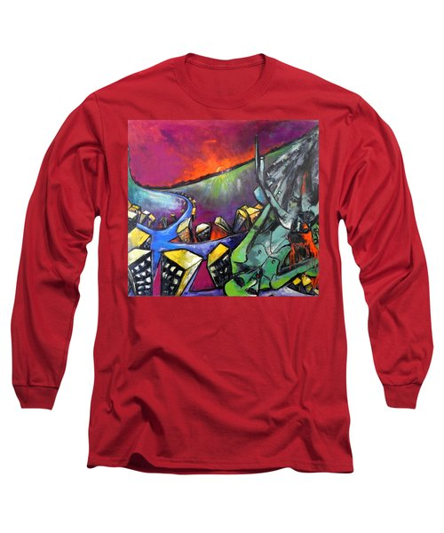 Flight Of Death Long Sleeve T-Shirt by Kenneth Agnello