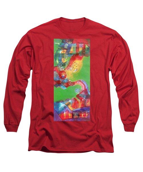 Green Harmony Long Sleeve T-Shirt by Sanjay Punekar