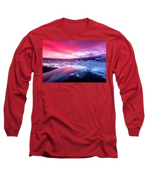 Icebergs In Jokulsarlon Glacial Lagoon Long Sleeve T-Shirt