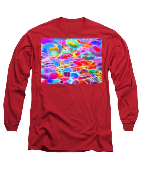 In Color Abstract 9 Long Sleeve T-Shirt by Cathy Anderson