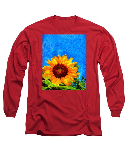 Sunflower  Long Sleeve T-Shirt by Andre Faubert