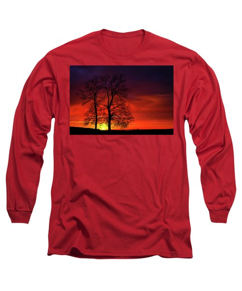 Long Sleeve T-Shirt featuring the photograph Sunset by Bess Hamiti