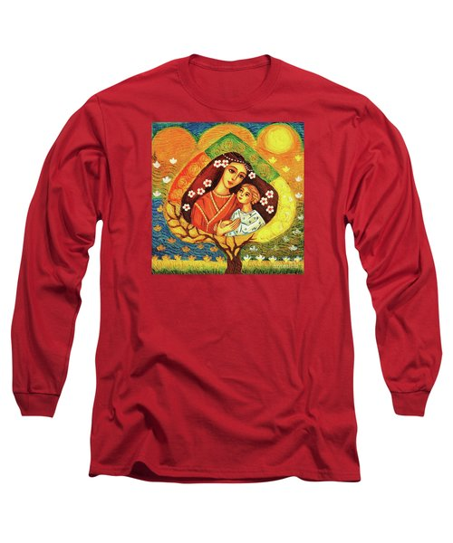 Long Sleeve T-Shirt featuring the painting Tree Of Life by Eva Campbell