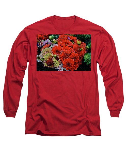 2017 Mid October Monona Farmers' Market Buckets Of Blossoms 1 Long Sleeve T-Shirt
