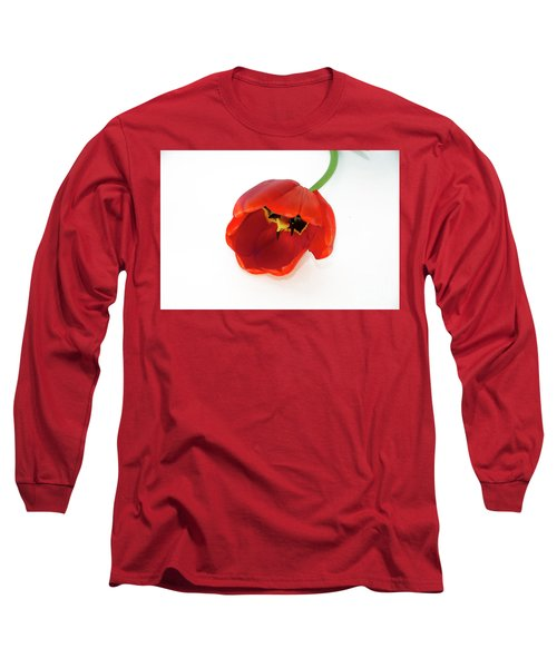 Red Tulip Long Sleeve T-Shirt by Elvira Ladocki