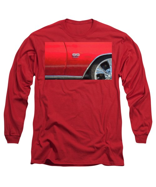 1970 Chevy Chevelle 454 Ss  Long Sleeve T-Shirt by Rich Franco