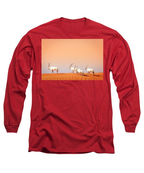 Long Sleeve T-Shirt featuring the photograph Arabian Oryx by Alexey Stiop