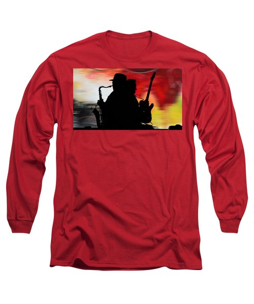 Bruce Springsteen Clarence Clemons Long Sleeve T-Shirt by Marvin Blaine