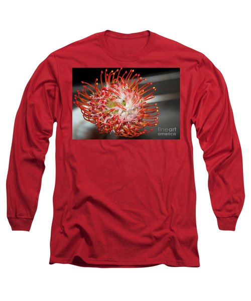 Exotic Flower Long Sleeve T-Shirt by Elvira Ladocki