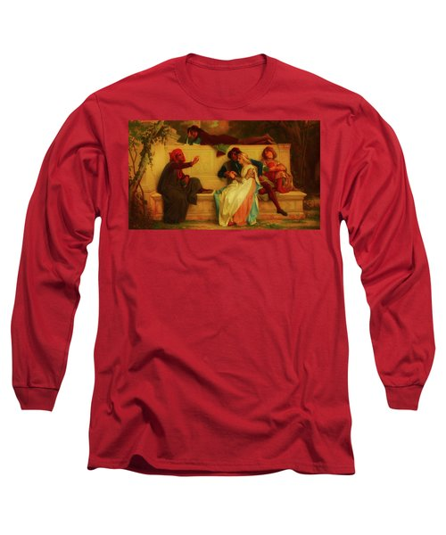 Long Sleeve T-Shirt featuring the painting Florentine Poet by Alexandre Cabanel
