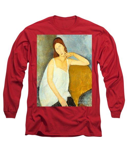Jeanne Hebuterne Long Sleeve T-Shirt