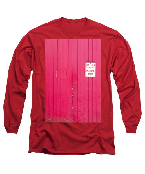 Parking Sign Long Sleeve T-Shirt